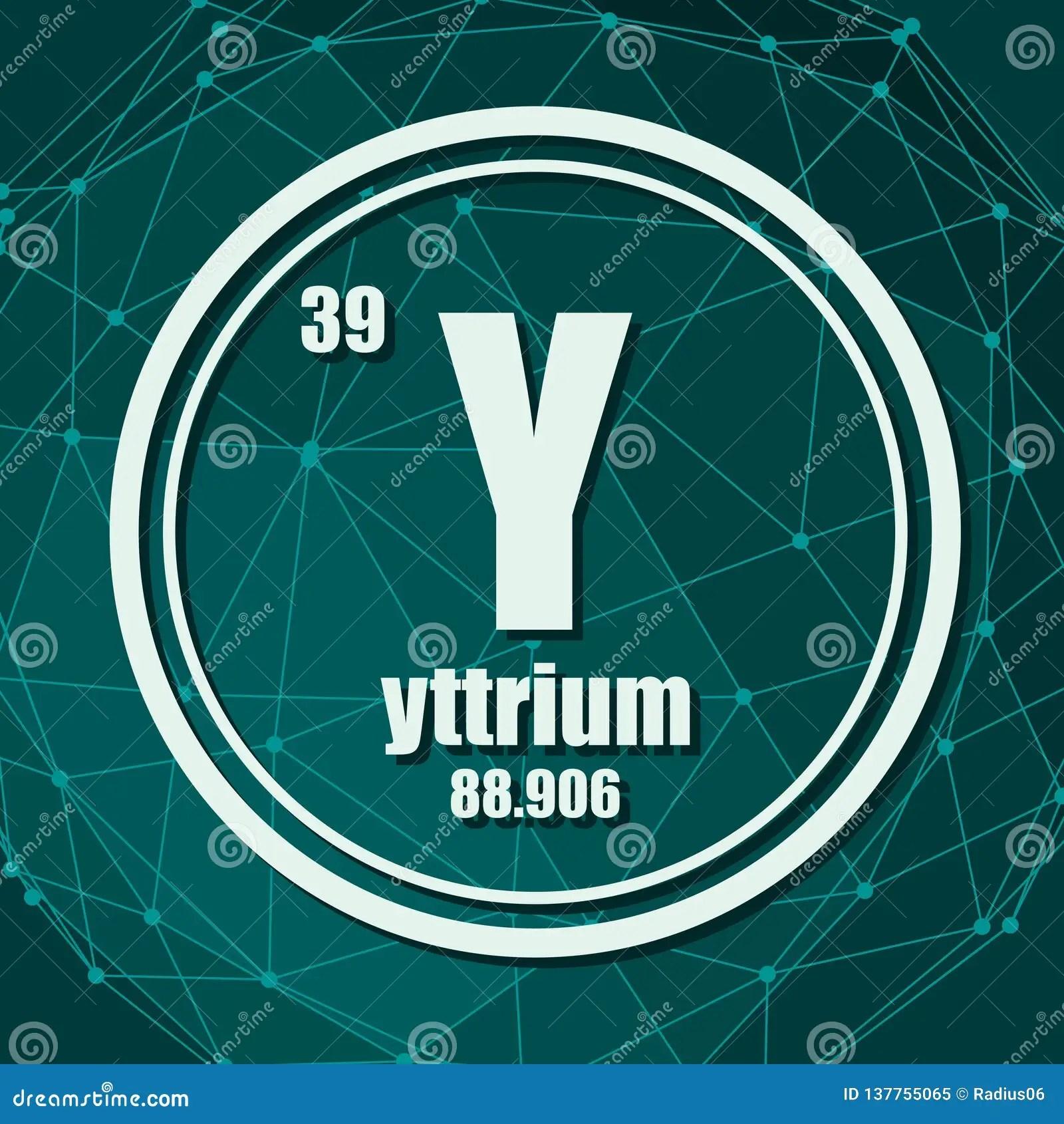 hight resolution of yttrium chemical element stock vector illustration of moleculardot diagram of yttrium 20