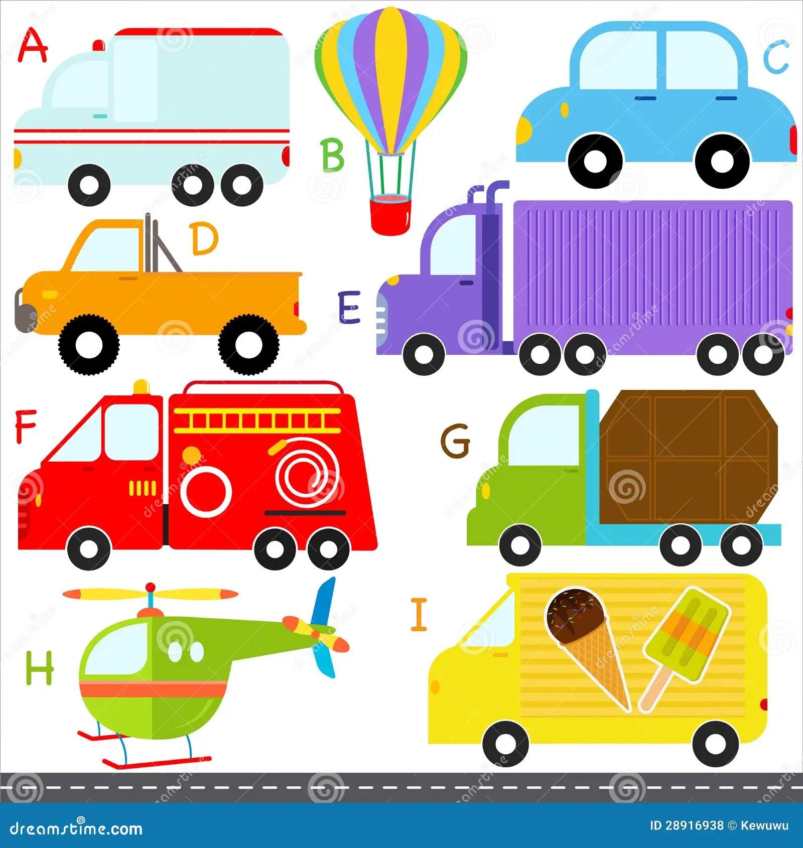 A Z Alphabets Car Vehicles Transportation Stock