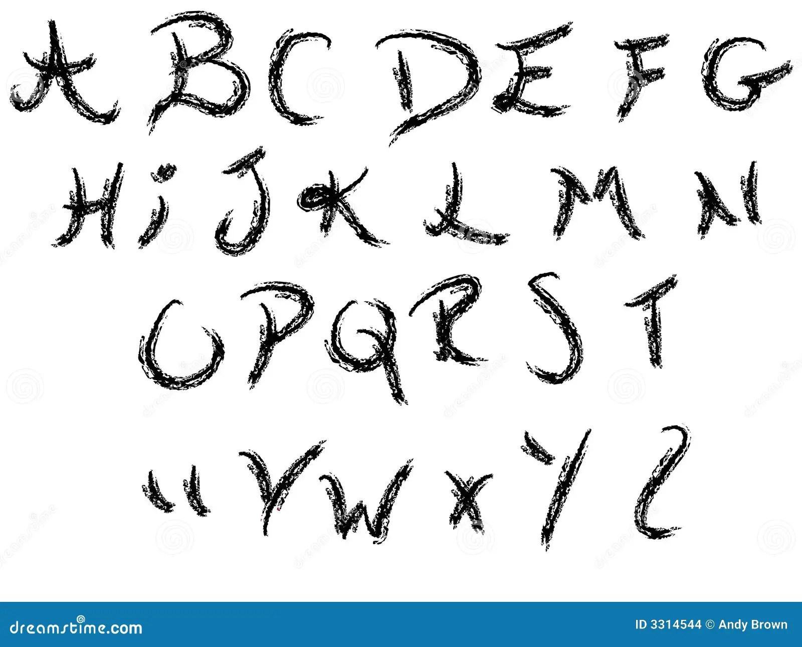 A-Z Del Alfabeto Del Cursivo Ilustración del Vector