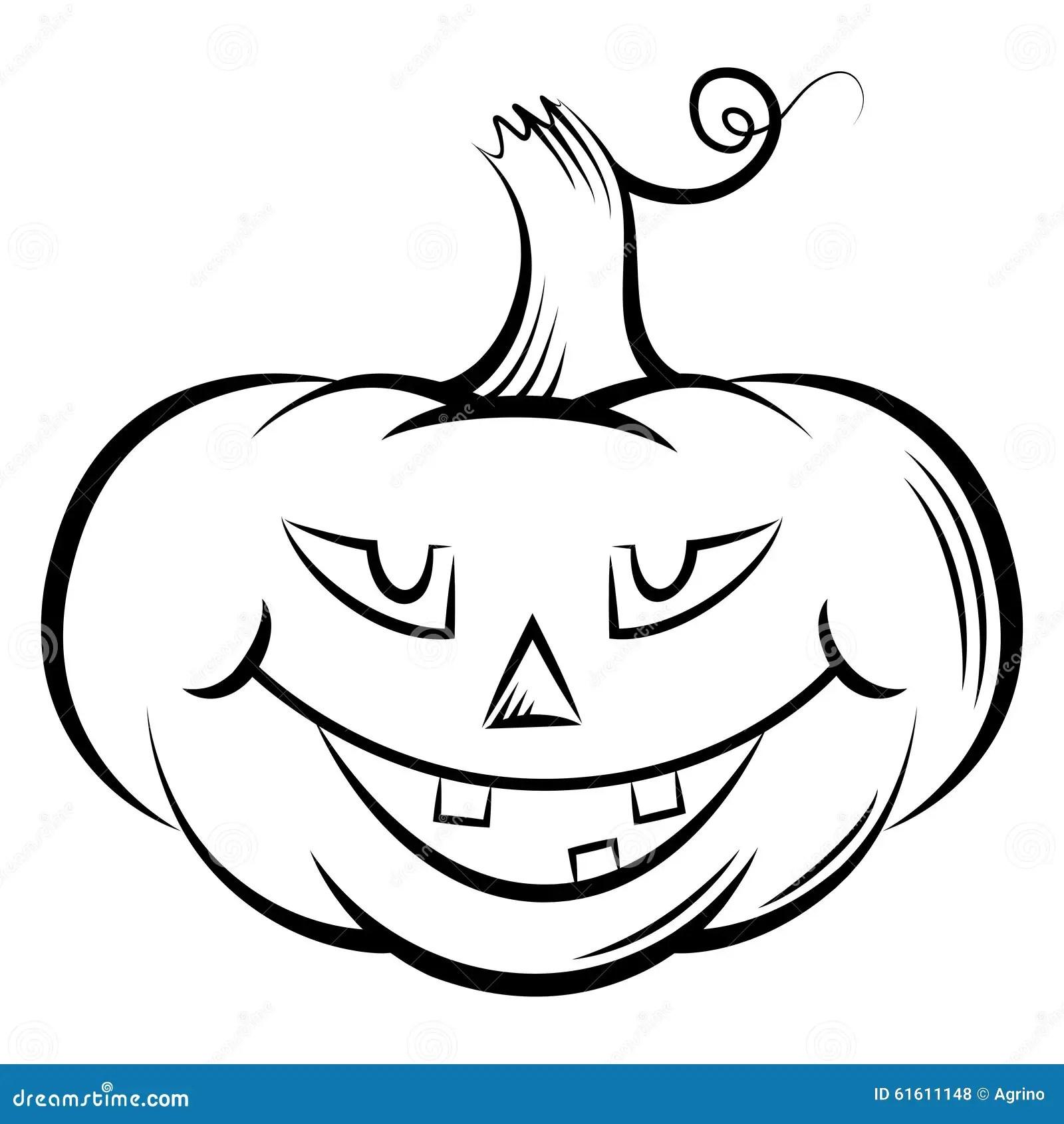 Zabawne Dynie Halloween Ilustracja Wektor Ilustracja