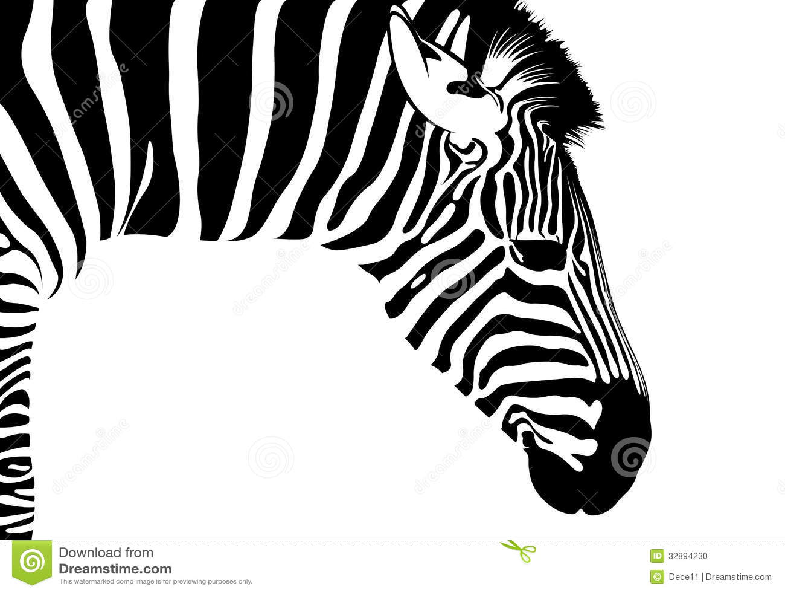 Isolated Zebra Silhouette Vector Black Stripes Vector