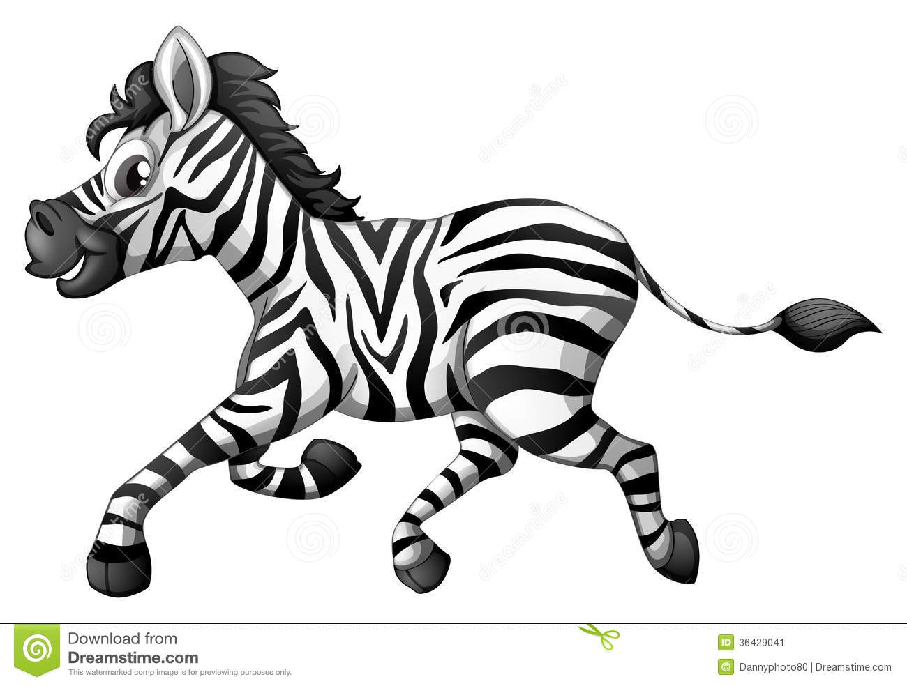 A Zebra Running Stock Illustration Illustration Of Animal