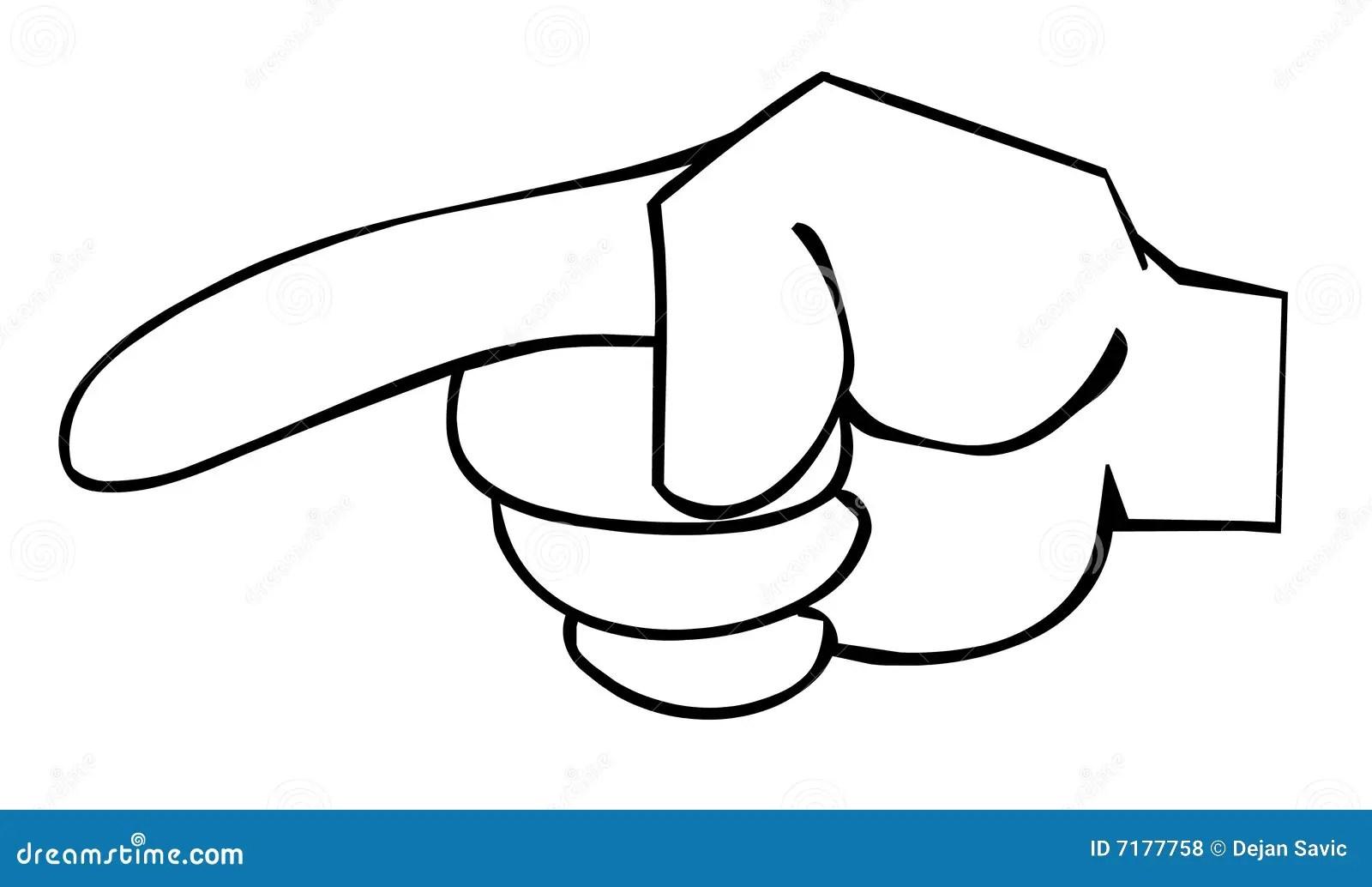 Zeigefinger Stock Abbildung Illustration Von Zeichnung