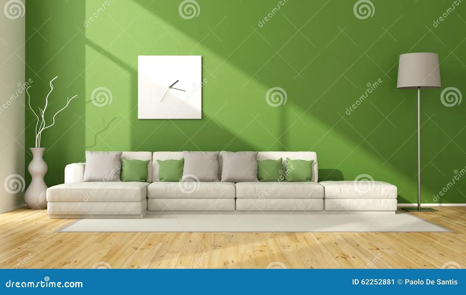 Zeitgenssisches Grnes Wohnzimmer Stock Abbildung  Bild