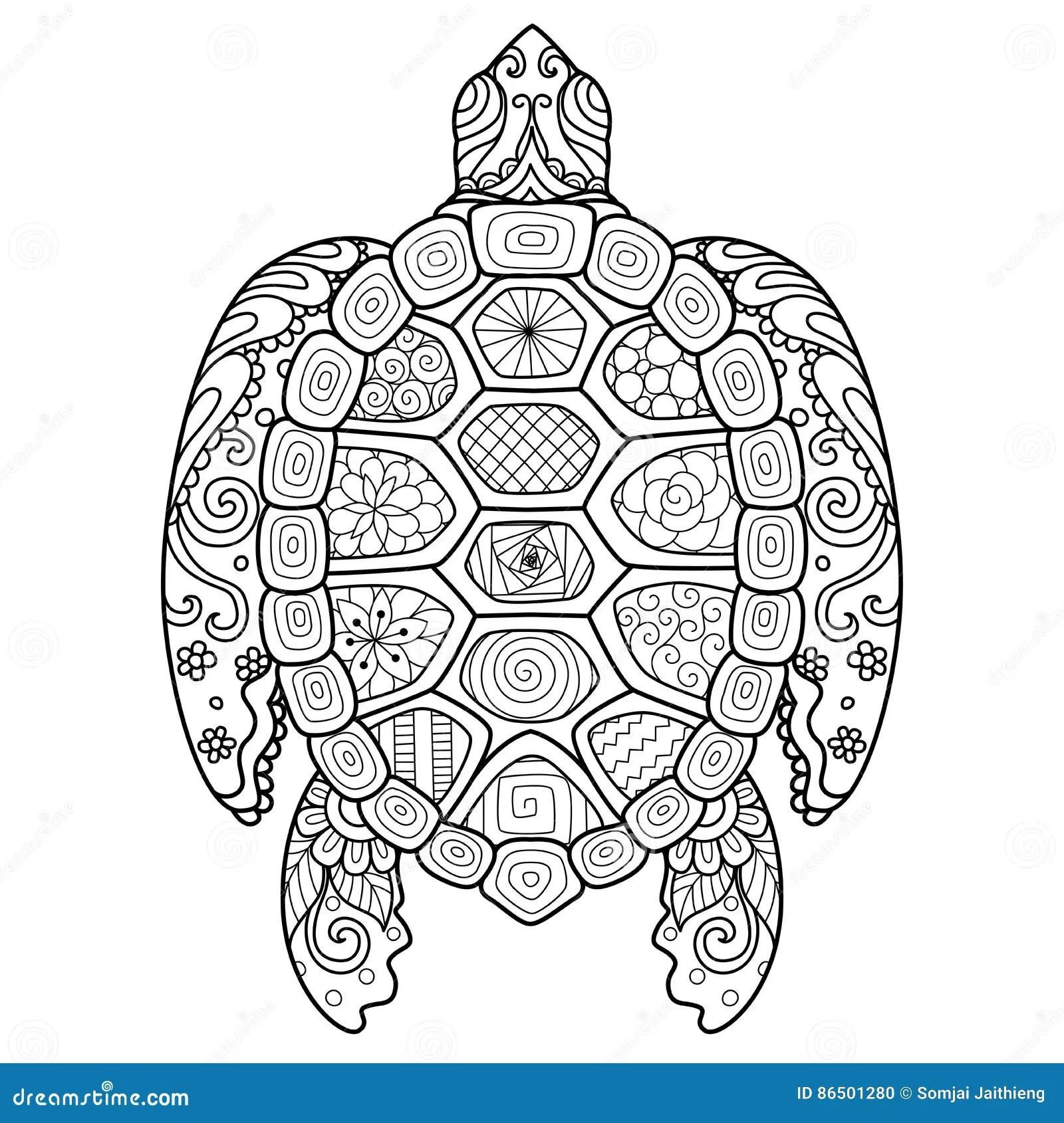 Turtle Tattoo Design Vector Illustration