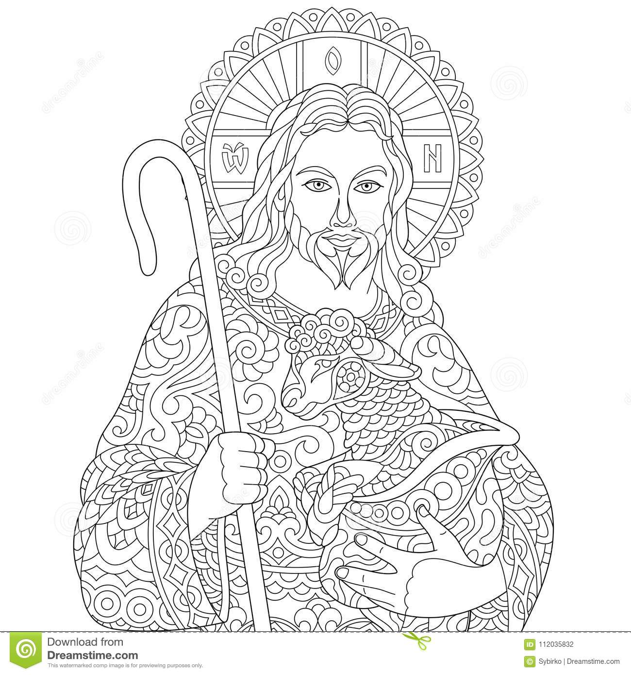 Bible Pattern, Cartoon Style Vector Illustration