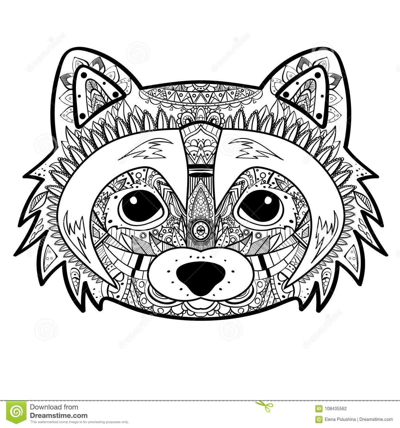 Raccoon Tattoo Stock Illustrations 260 Raccoon Tattoo