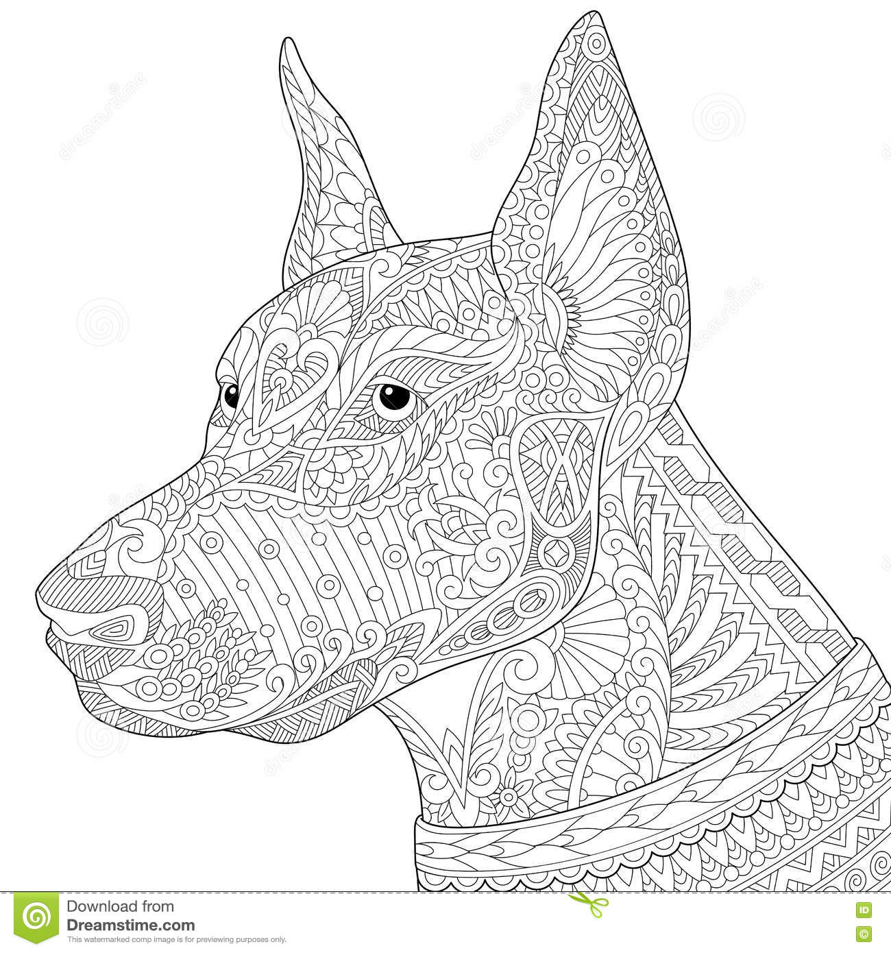 Doberman Pinscher Coloring Pages