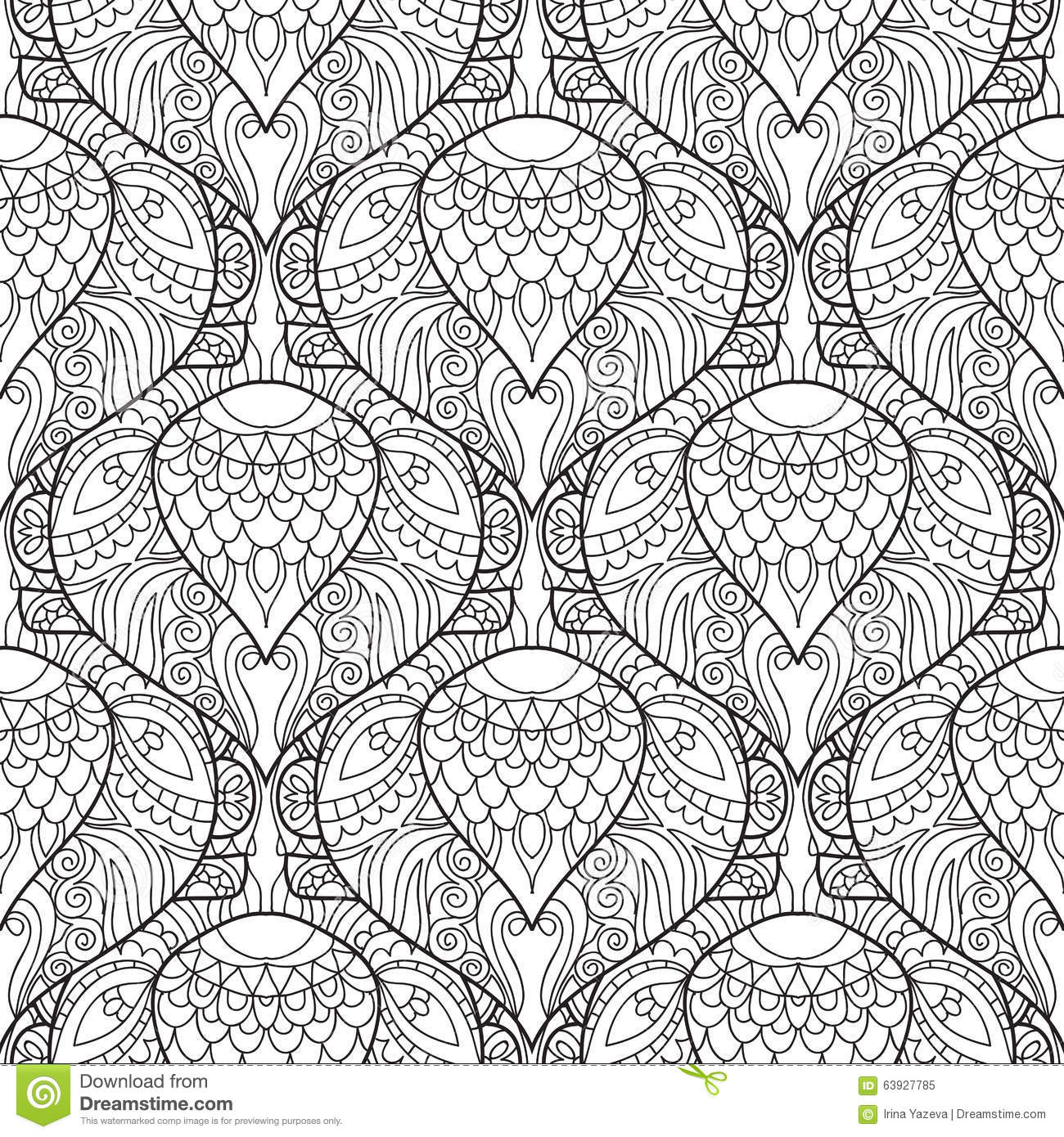 Zentangle Stylized Peacock Feather Pattern Stock Vector