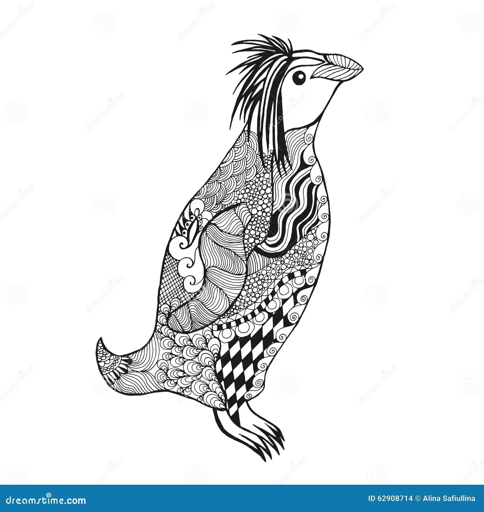 Zentangle Stylized Penguin Stock Vector Image 62908714