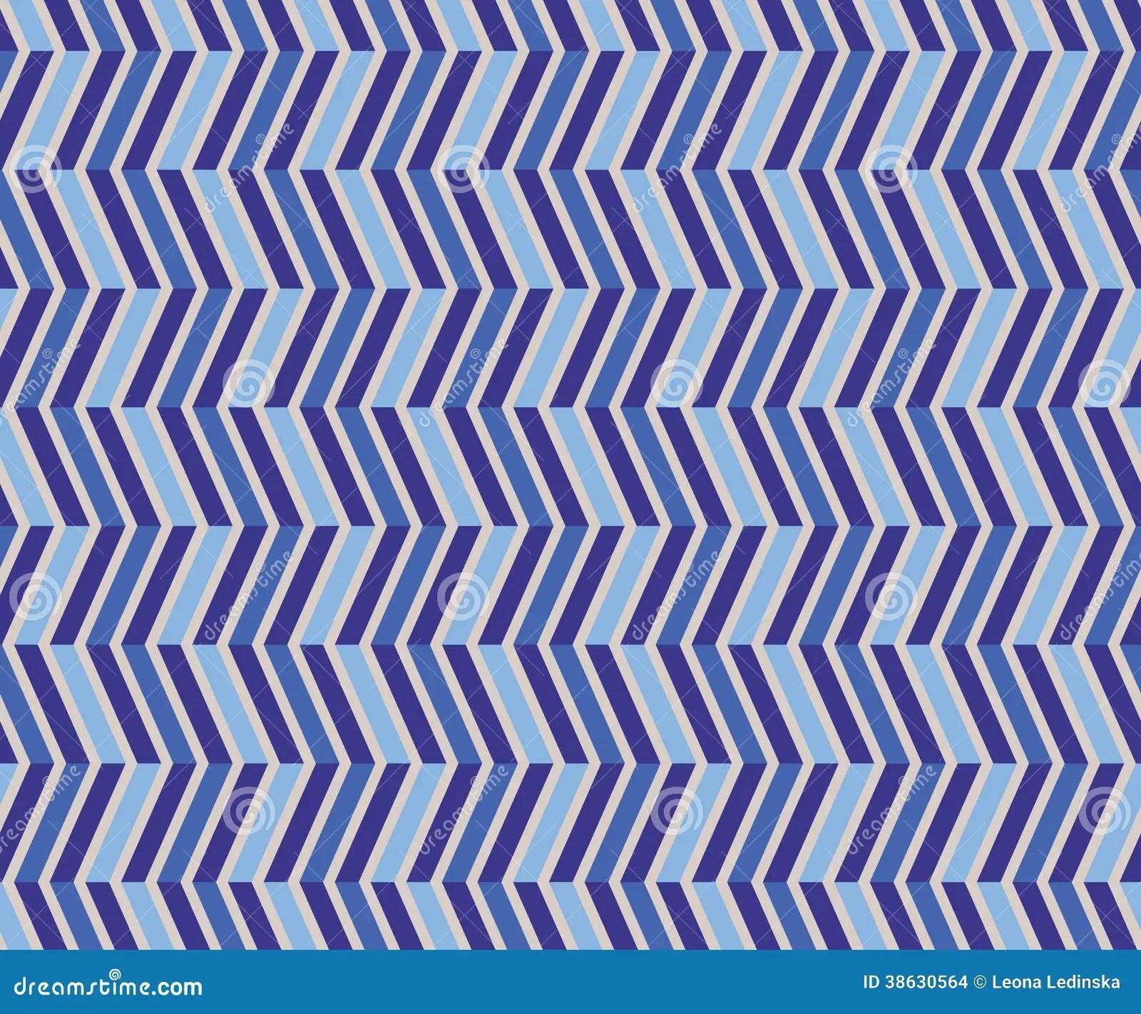 Zig Zag Blue Seamless Pattern Stock Images