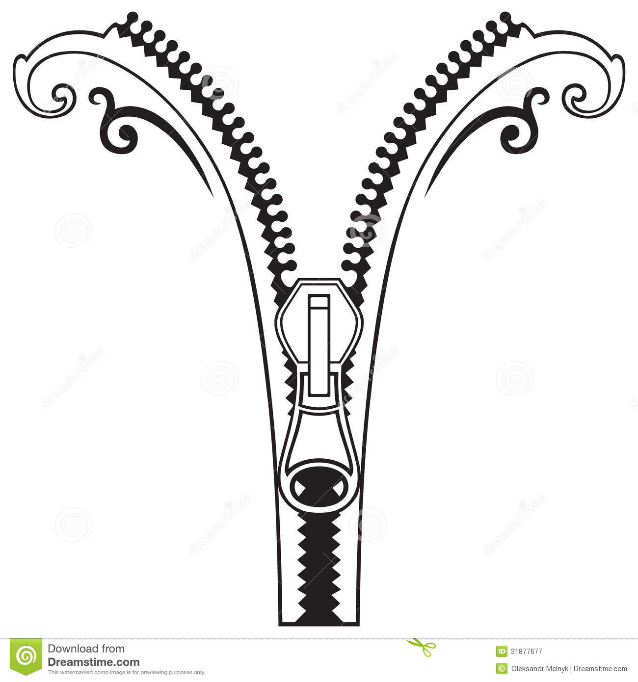 Zipper black symbols stock vector. Illustration of lock