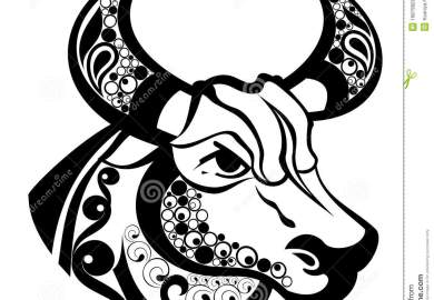 Zodiac Signs Taurus Tattoo Design Royalty Free Stock