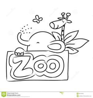 zoo animals cartoon drawing sketch zicklein
