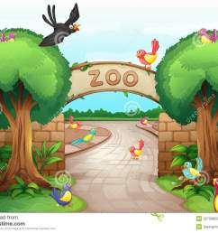 zoo scene [ 1300 x 1010 Pixel ]