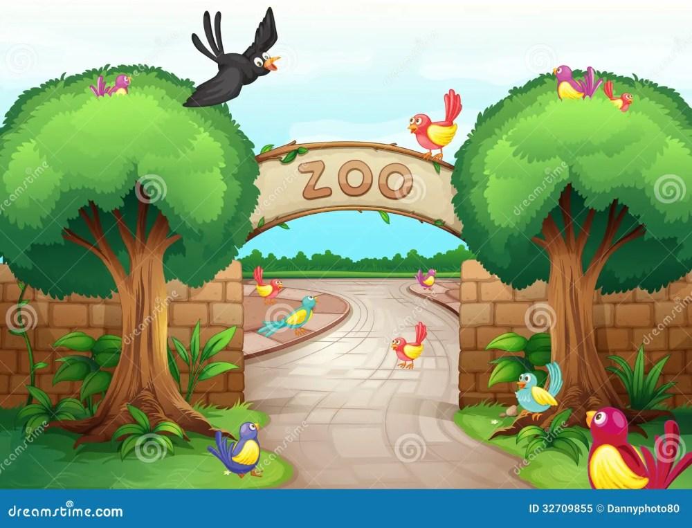medium resolution of zoo scene