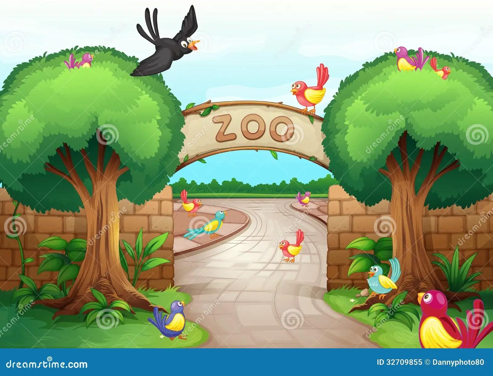 hight resolution of zoo scene