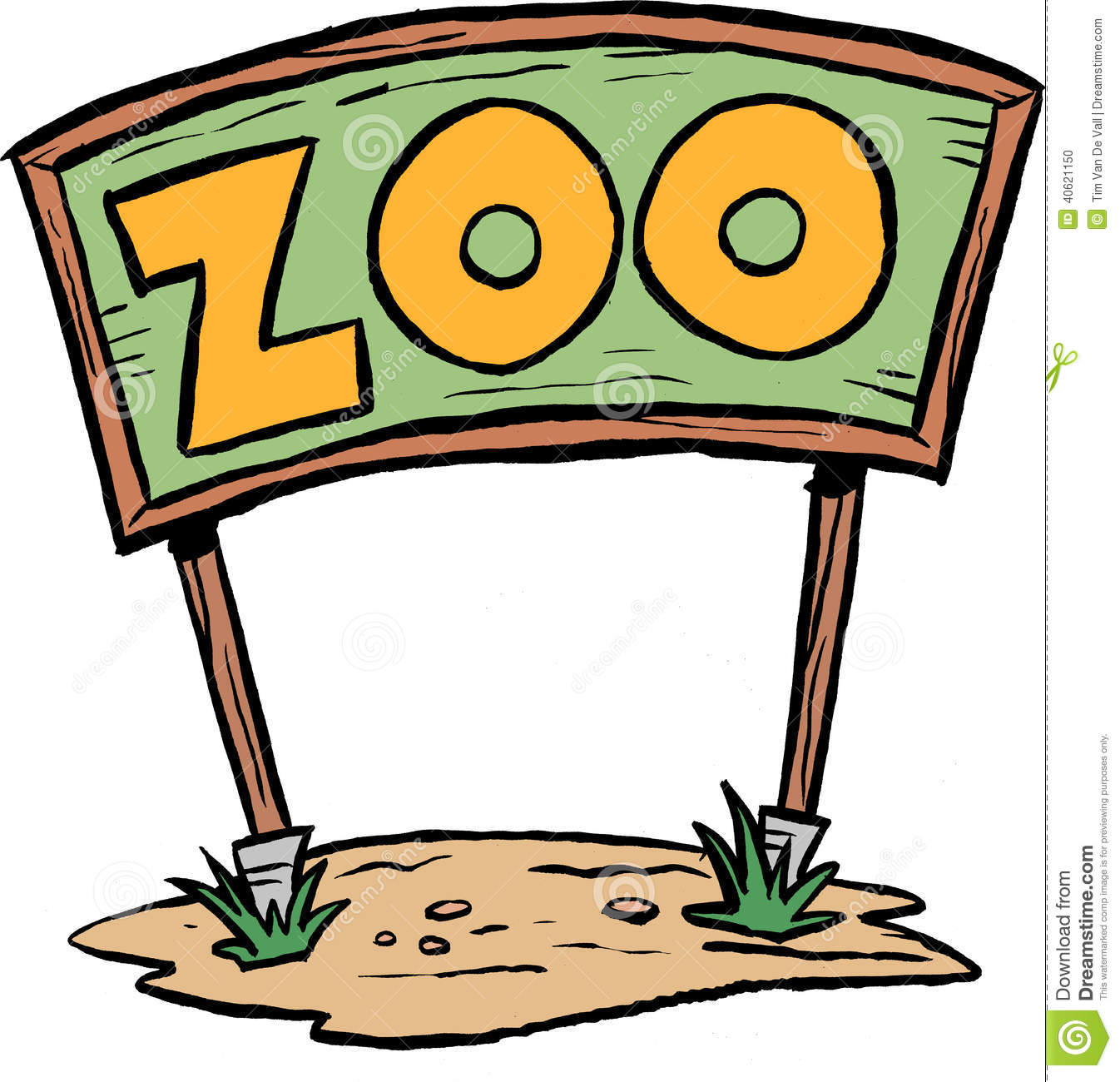 hight resolution of zoo sign