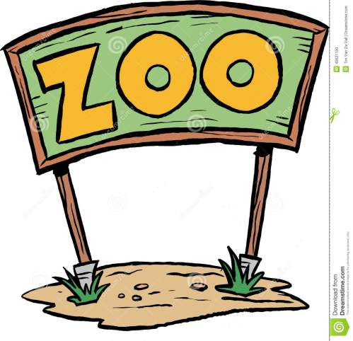 small resolution of zoo sign