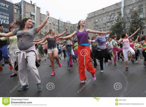 Zumba Fitness Aerobics Editorial Of Cheerful