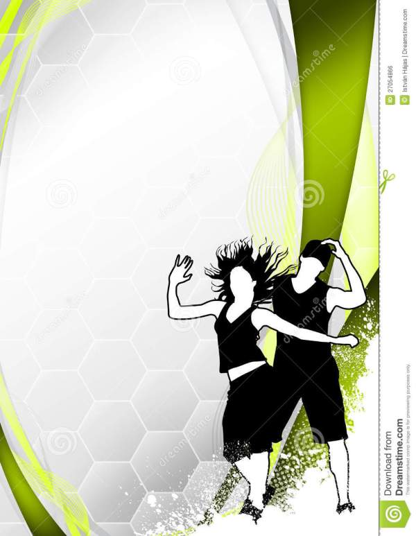 Zumba Fitness Dance Background Stock Illustration