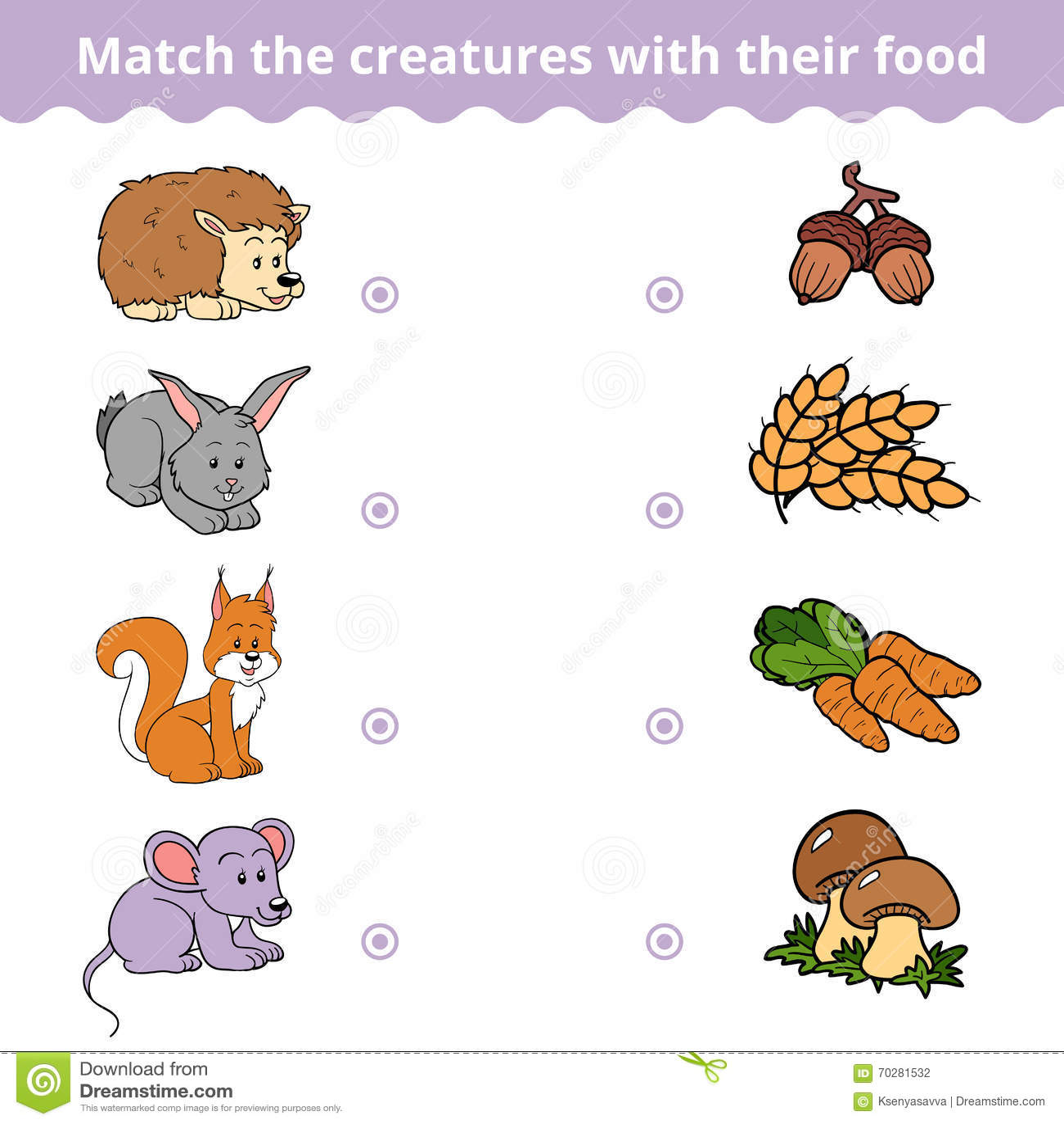 Zusammenpassendes Spiel Fur Kinder Tiere Und