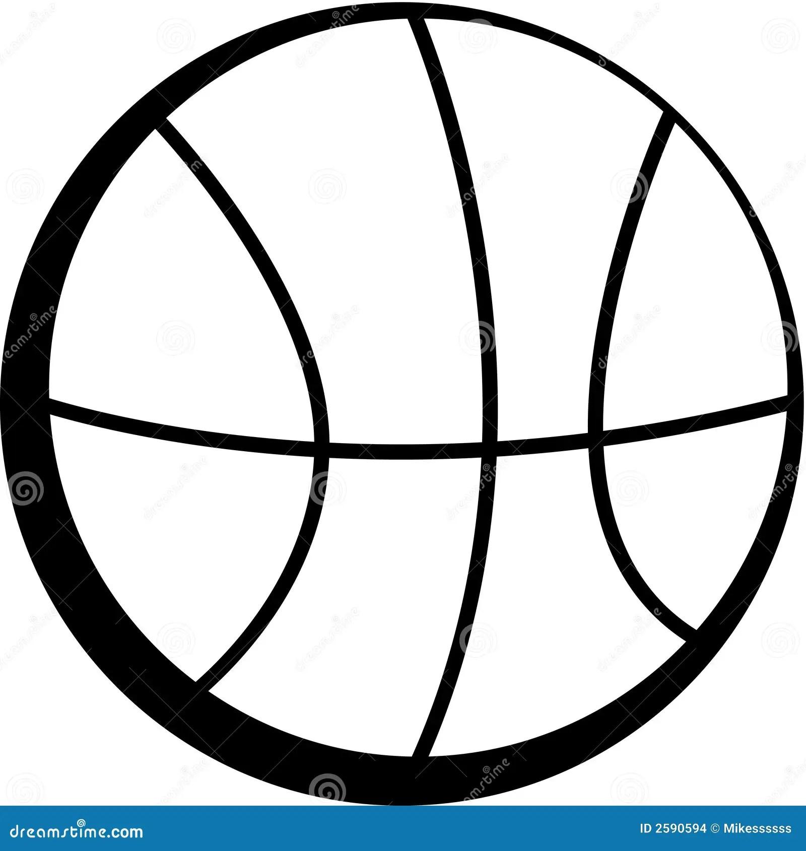 Zwart Wit Basketbal Vector Illustratie Illustratie