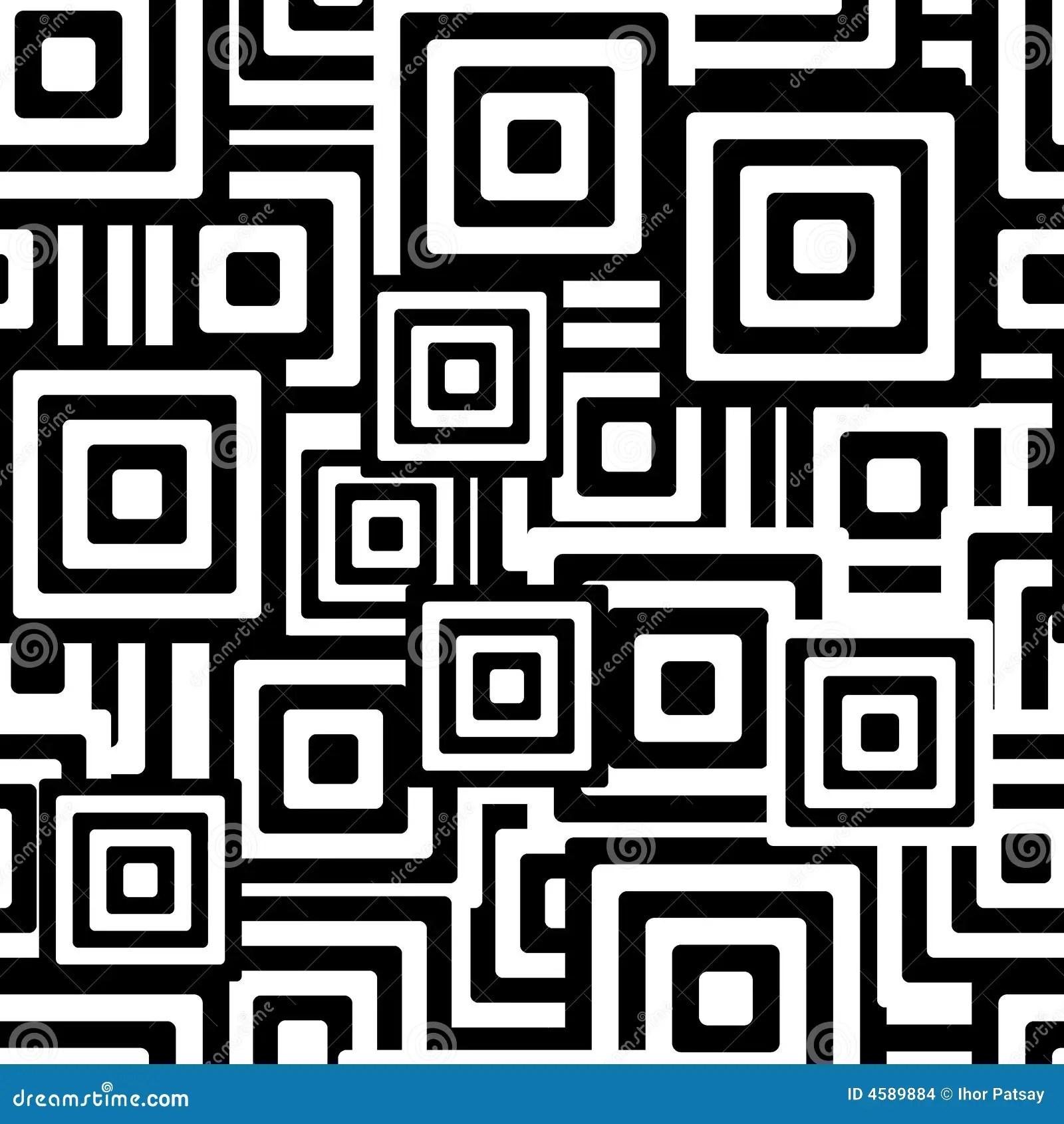 Zwartwit naadloos patroon vector illustratie Illustratie