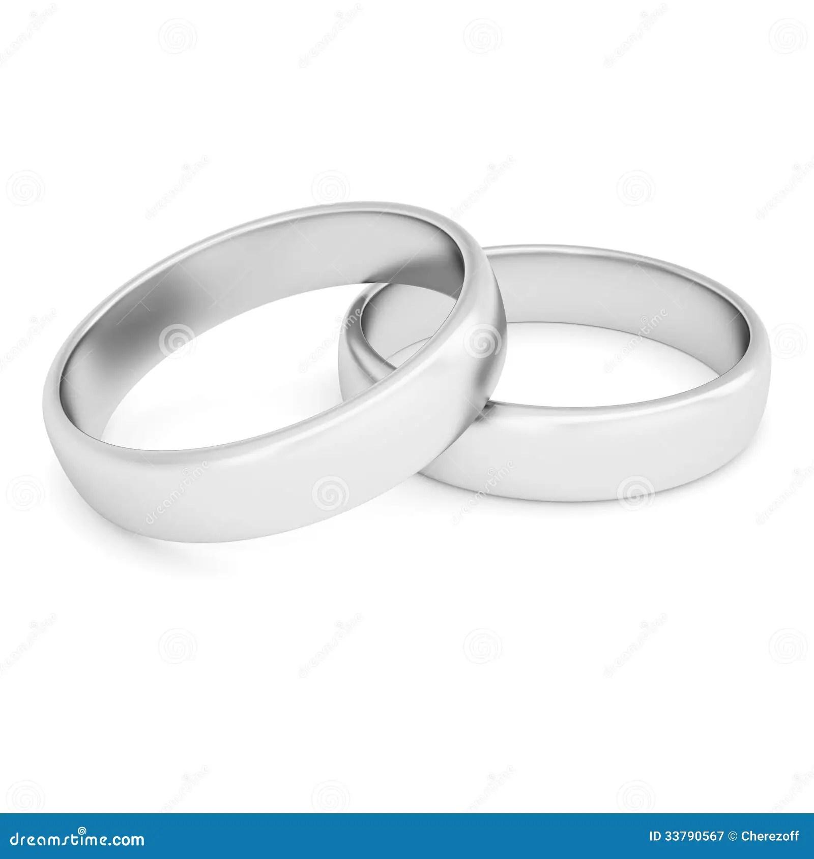 Zwei Silberne Ringe Lizenzfreie Stockfotografie  Bild