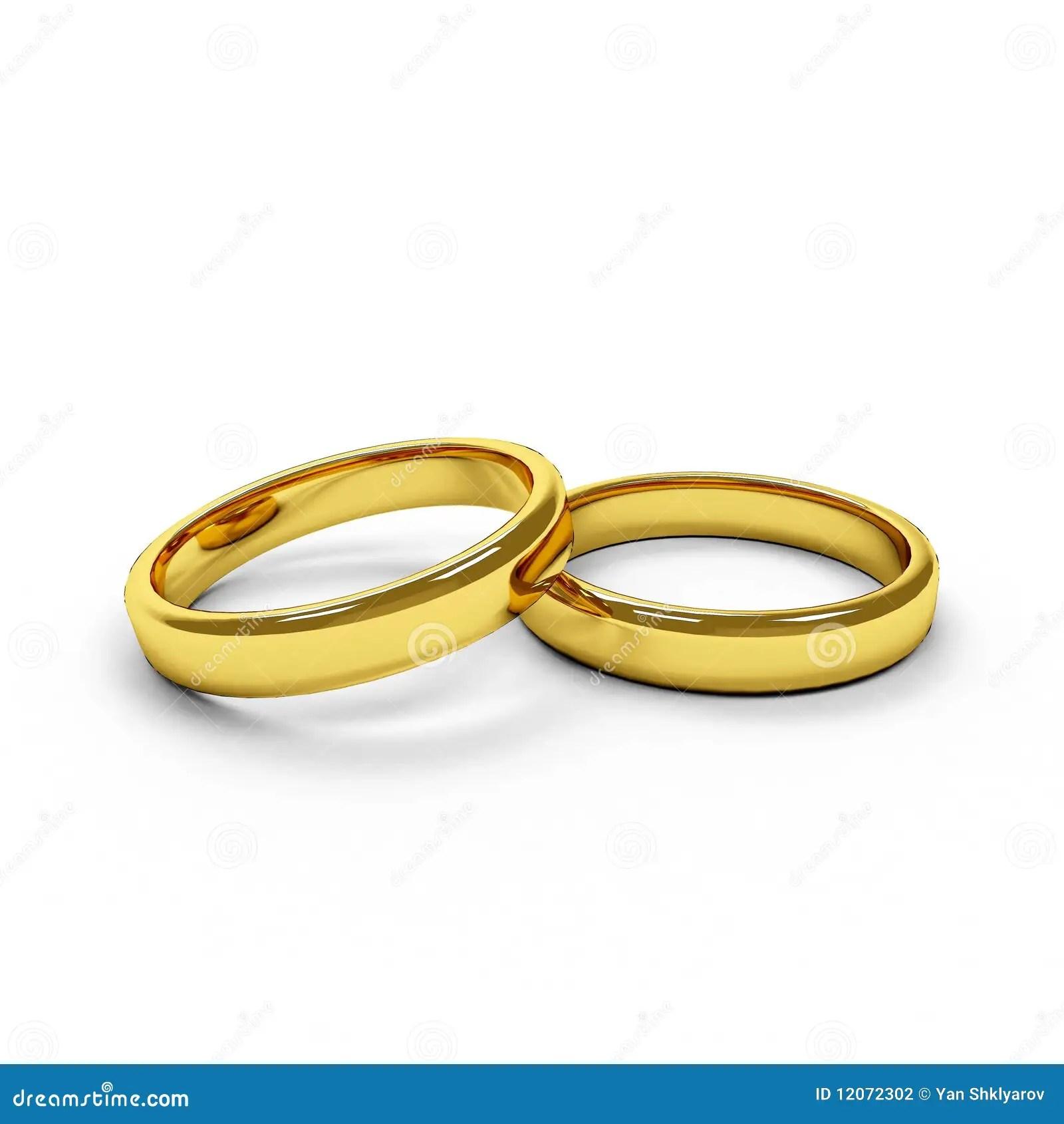 Zwei Trennten Goldene Ringe Stock Abbildung Illustration