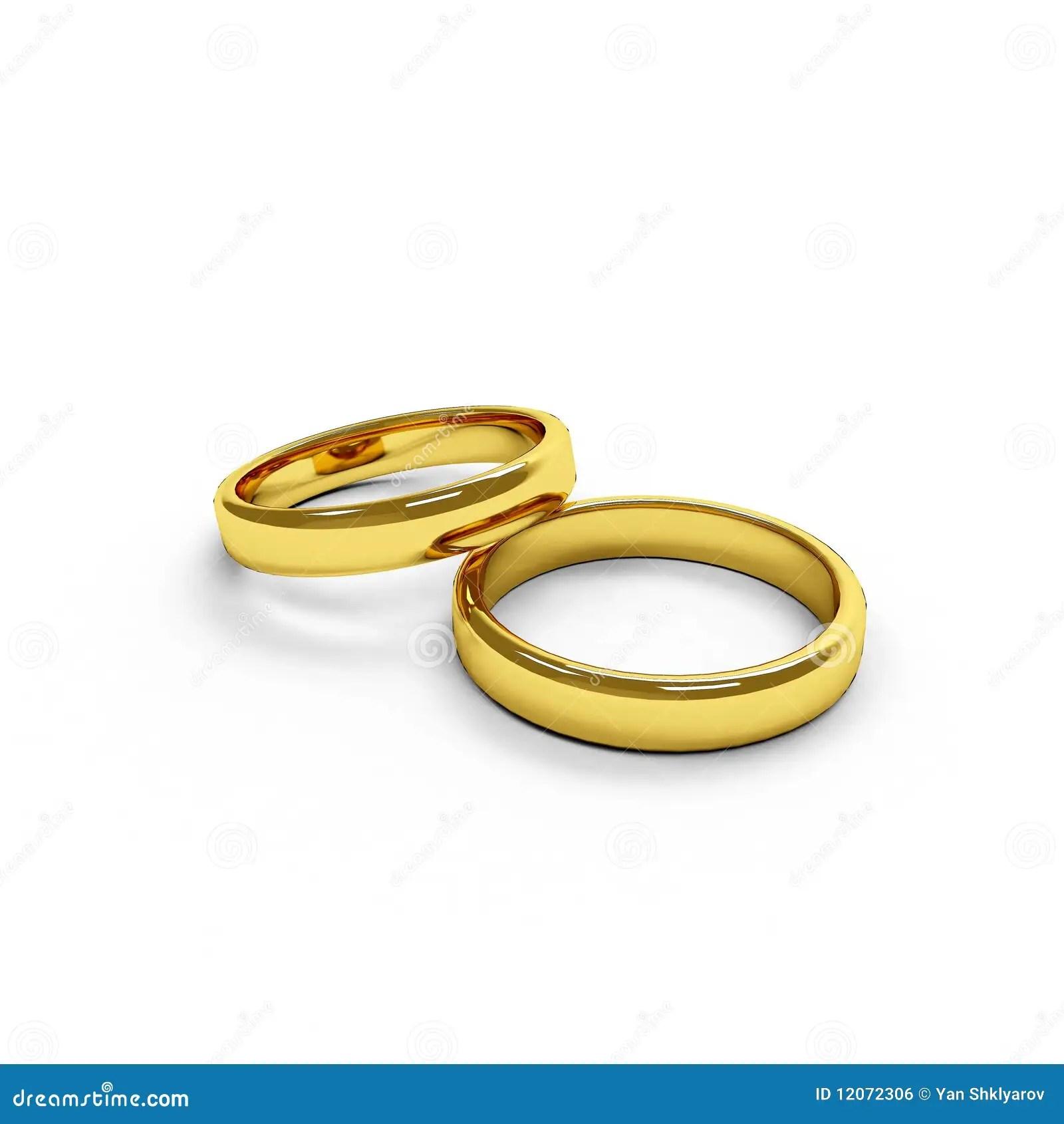 Zwei Trennten Goldene Ringe Lizenzfreies Stockbild Bild