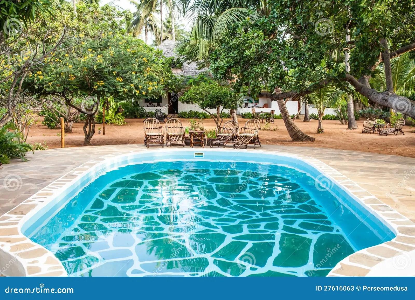 S Stock Foto S Zwembad Afrikaanse Tuin