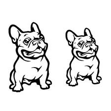 Universal Black French Bulldog Car Auto Styling Sticker