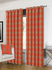 Orange Check Curtains EBay
