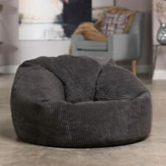 Soft Bean Bag Chairs Ergonomic Chair Geelong Jumbo Cord Fabric Seat Lounger Living Room Bedroom Beanbag