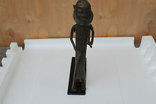 "Arts of Africa - Antique Bronze Sculpture - Benin - 17"" Height x 10 L"