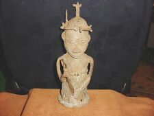 BENIN NIGERIA BRONZE CAST KINGS GUARD STATUE