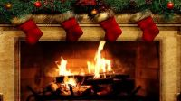 christmas fireplace burning GIFs Search | Find, Make ...