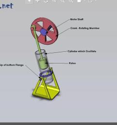 animation of oscillating cylinder engine mechanism gif [ 1280 x 720 Pixel ]