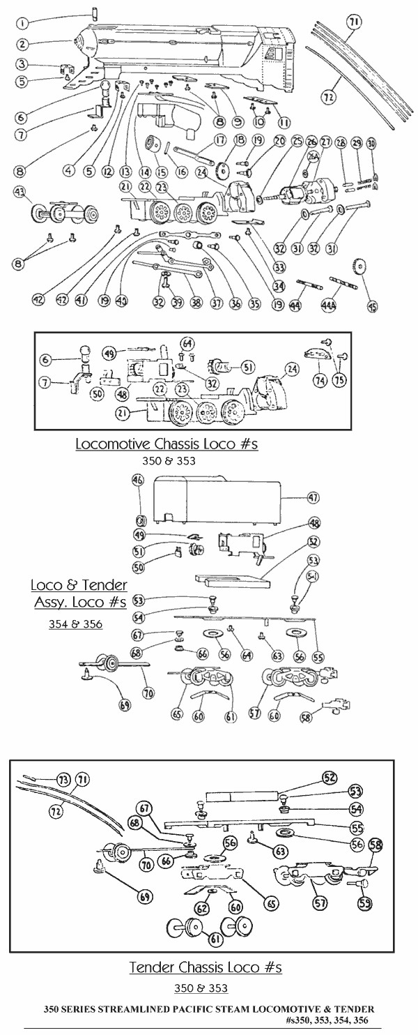 American Flyer Locomotive Wiring Diagrams Train Repair Parts