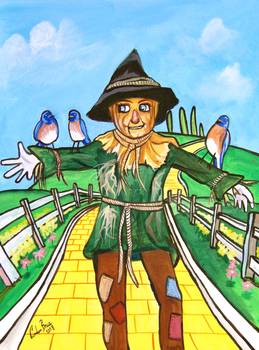 THE SCARECROW WIZARD OF OZ PAINTING Gordon Bruce by Gordon