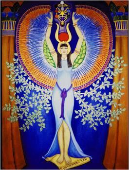 IsisAset Egyptian Divine Goddess by DiVeena Marcus