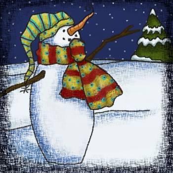 Whimsical Snowman 1 by Jennie Baer
