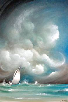 best kitchen mats blanco sinks sailboat in stormy sea by susi galloway