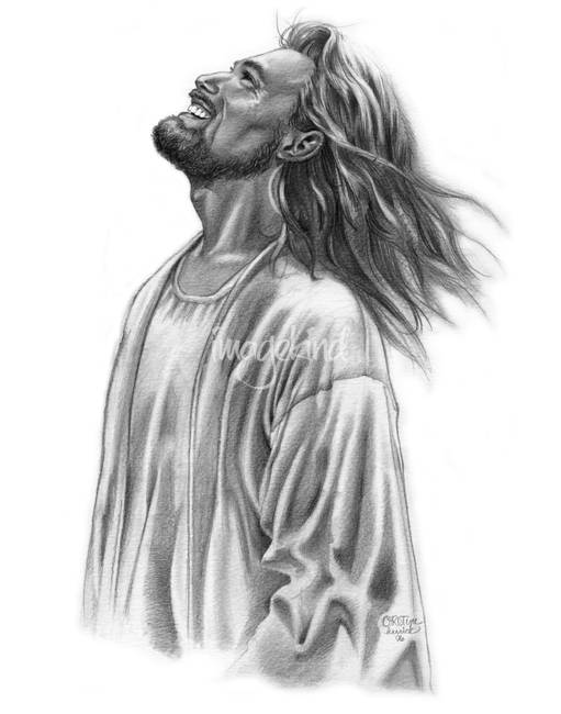 Jesus Cross Drawing Carrying Pencil