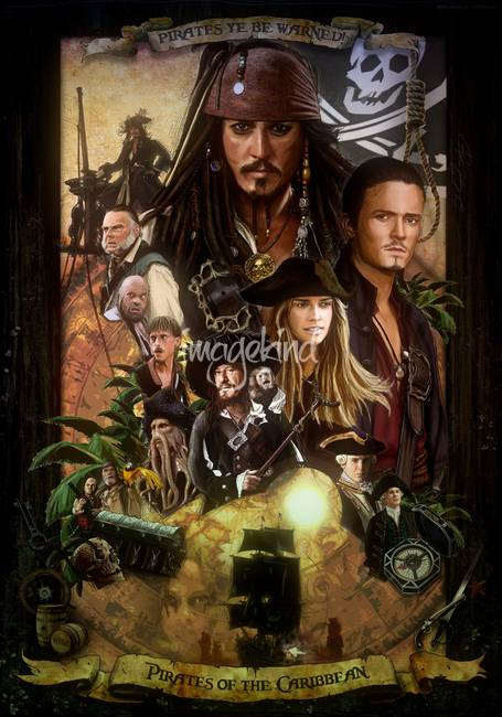 pirates of the caribbean poster by amiram zocowitzky