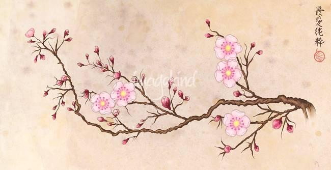 Paint Falling Wallpaper Stunning Quot Sakura Quot Artwork For Sale On Fine Art Prints