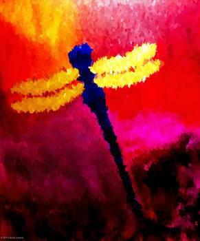bold blue dragonfly anita lewis