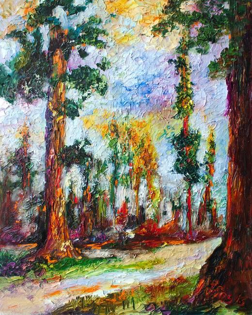 Impressionist Oil Painting : impressionist, painting, Redwood, Forest, Impressionist, Painting, Ginette, Callaway