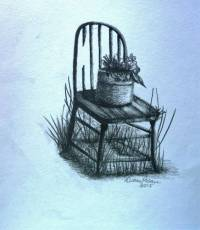 "Drawing ""Old Chair"" Artwork For Sale on Fine Art Prints"